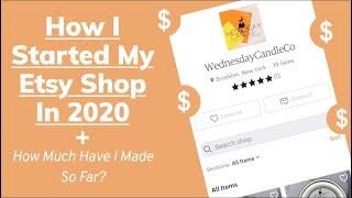 Starting an Etsy Shop in 2020 | Tips + Tricks | How Much Have I Made on Etsy?