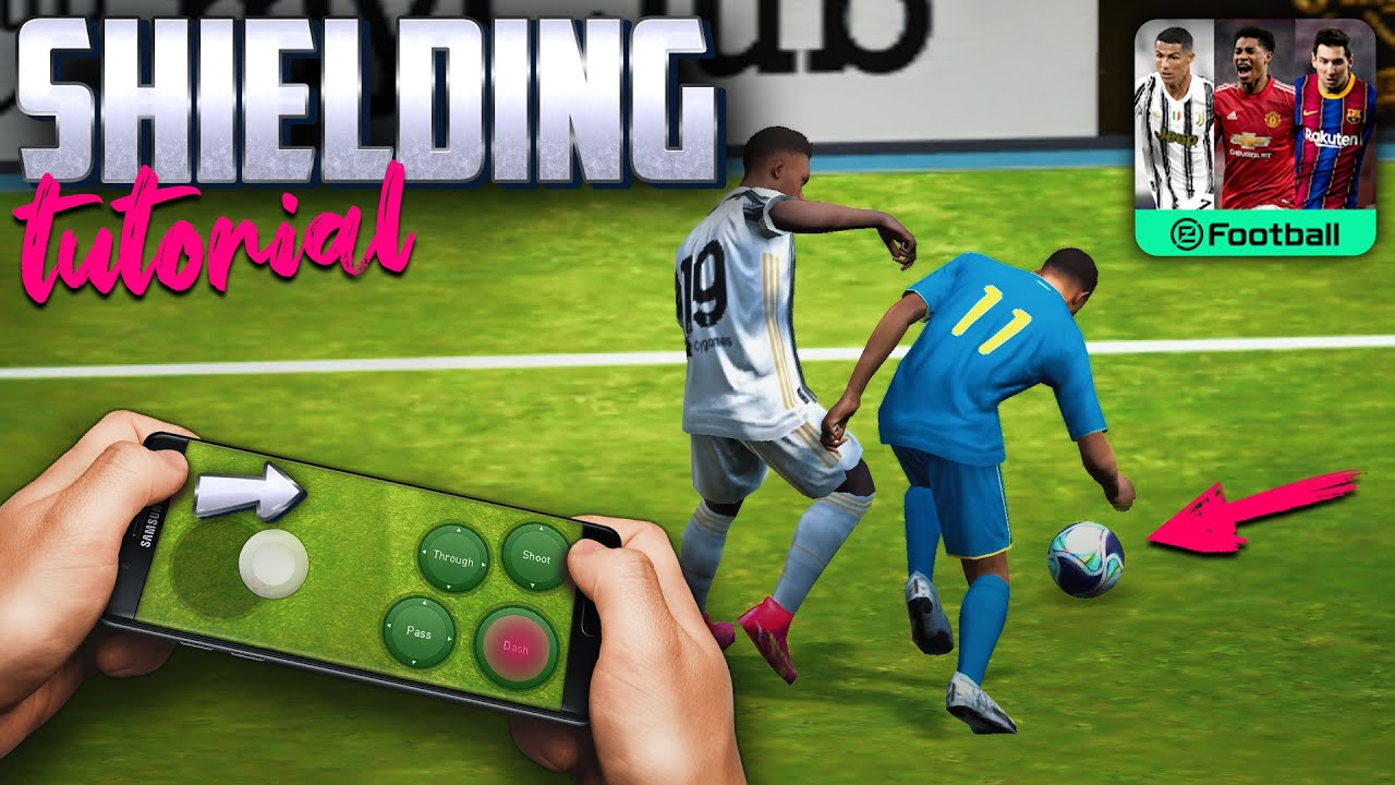 How to SHIELD the ball | PES Mobile Dribbling Tutorial