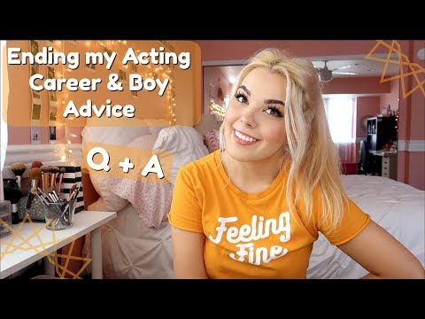 Ending My Acting Career & Boy Advice | October Q + A