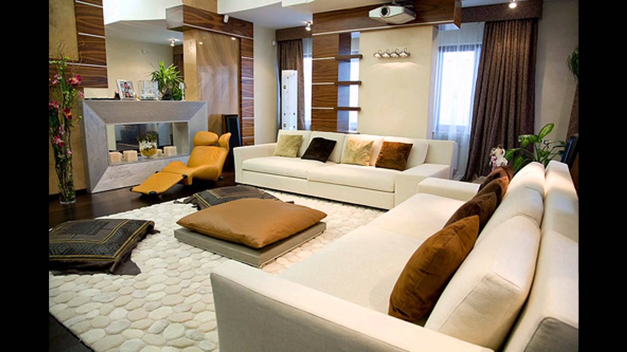 Sala de estar moderna ideas de decoraci n modern living room decorating ideas youtube for Ideas decoracion sala de estar