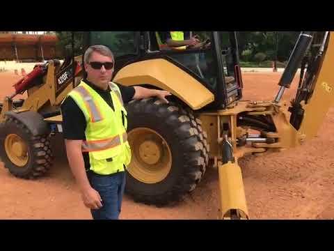 Cat® Backhoe Loader Safety & Braking Demo | Cat Landscaping and Construction