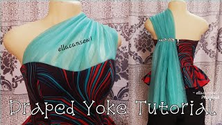 Draped Yoke Tube top/blouse/Pr…