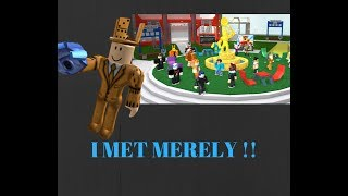 I JUST MET MERELY !! | Roblox Trade Hangout Nbc