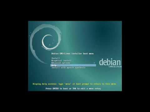 Debian Jessie 8.6 minimum telepítés