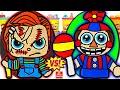 Huevos Sorpresa Gigantes de Chucky VS FNAF Balloon Boy de Plastilina Play Doh en Español