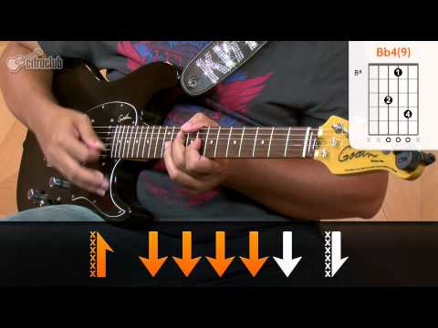 Bruno Mars Treasure How to play Guitar Tutorial aula de guitarra