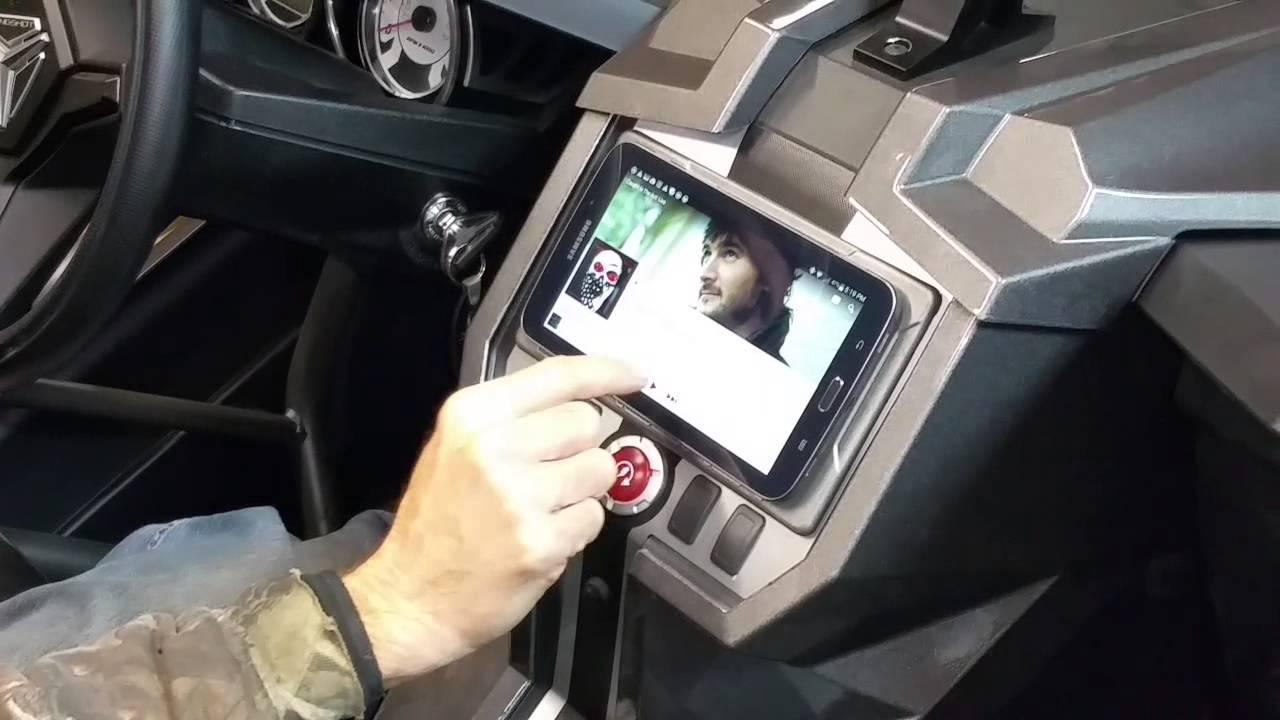 2015 Polaris Rzr >> Slingshot tablet mount - YouTube