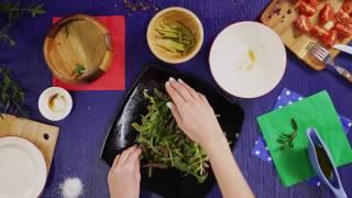 Салат с рукколой и говядиной, авторский видео- рецепт от DOSTаевского