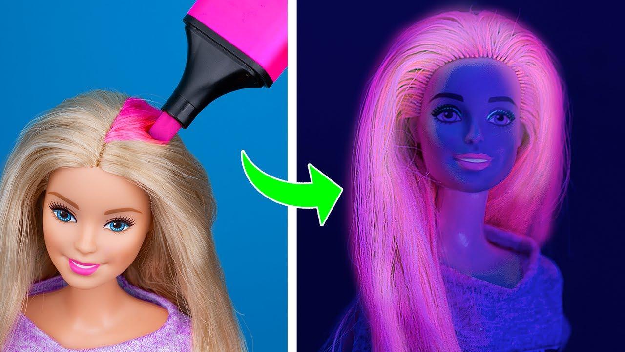 11 Trucos Para Que Tu Barbie Se Convierta En Una Verdadera Reina Youtube