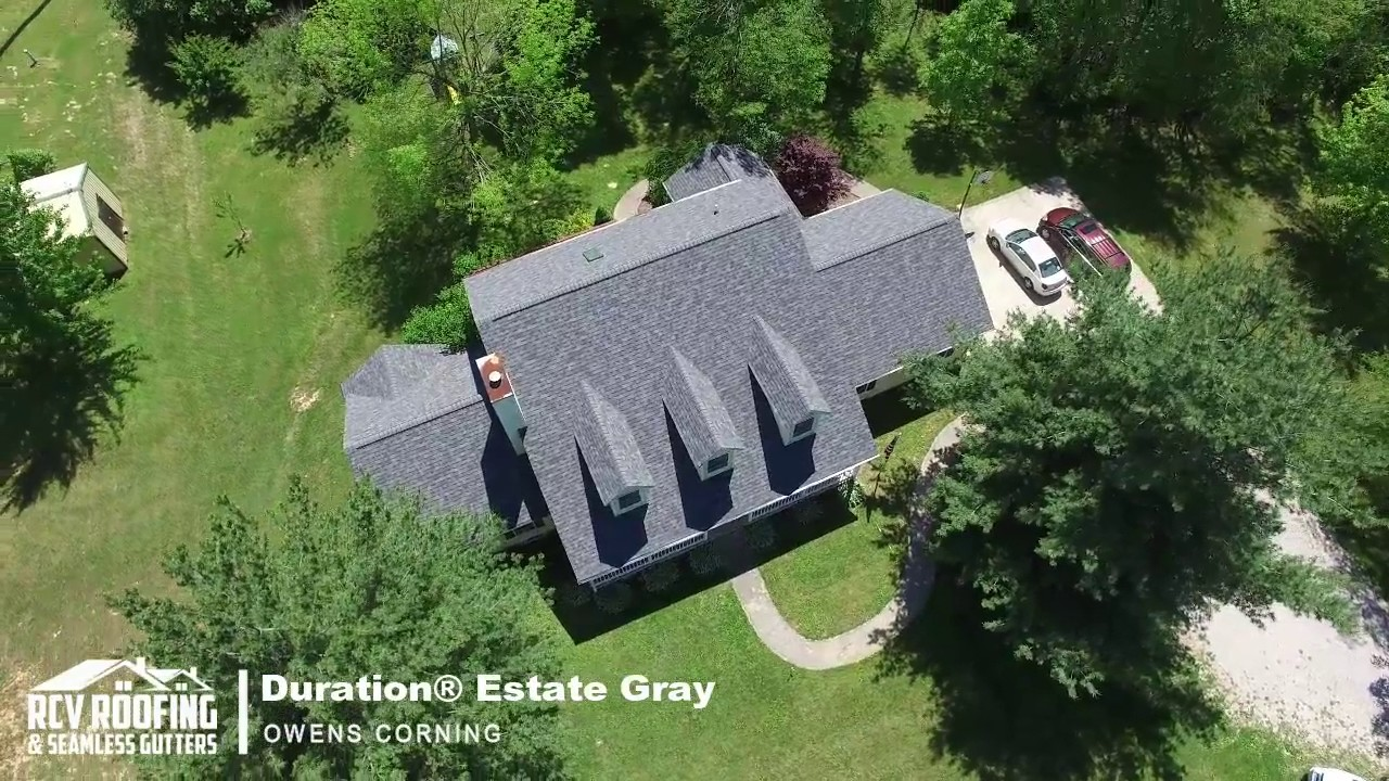 Aerial Drone Owens Corning Duration Estate Gray Rcv