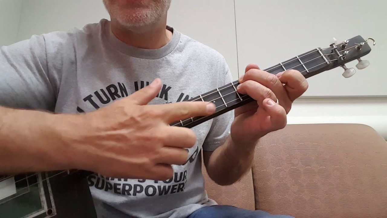 Playing Chords On The 3 String Cigar Box Guitar Youtube