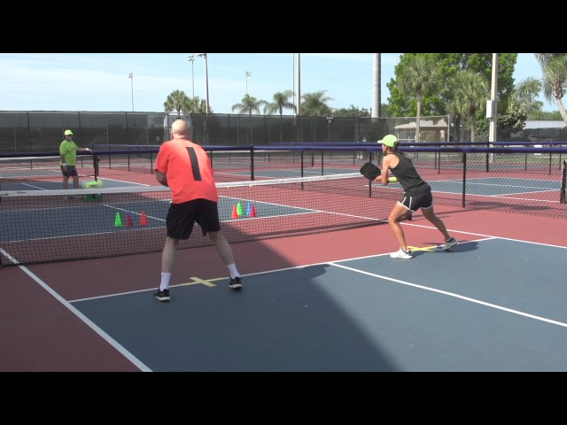 Pickleball Tutor Tips: 2 Player Poach Volley Drill