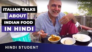 """Italian Firangi Speaks in Hindi about Idli - Sambar -""""La reazione italiana rigualdo il cibo indiano"""""""