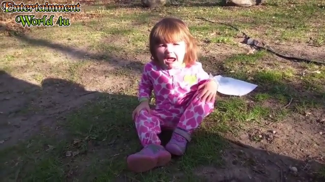 Top 5 funniest scared reactions of kids from insects frog and bugs