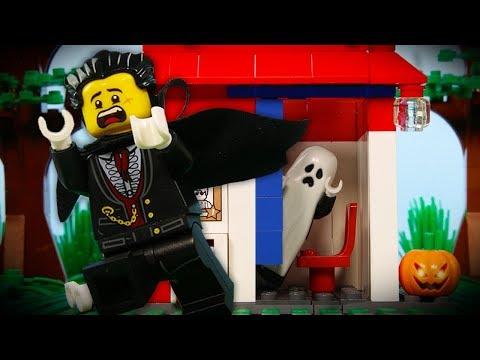LEGO City Halloween Ghost Fail STOP MOTION LEGO Ghost Prank Fail | LEGO City | By Billy Bricks