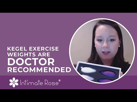 Intimate Rose Kegel Exercise Weights Are Doctor Recommended