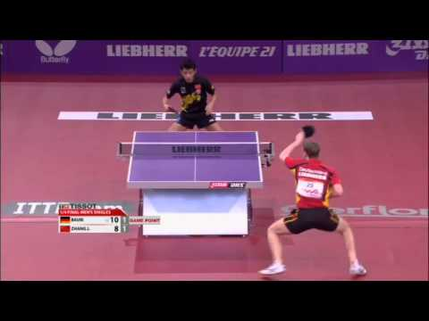 WTTC 2013 Highlights: Zhang Jike vs Patrick Baum (1/4 Final)