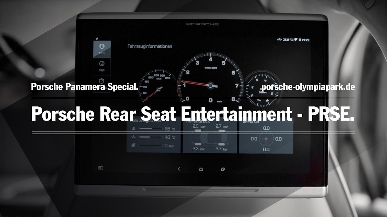 Vorstellung Porsche Rear Seat Entertainment PRSE