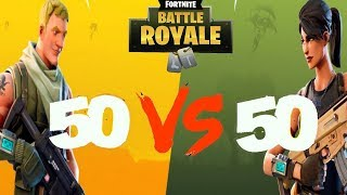 ON TEST LE NOUVEAU MODE 50 VS 50 SUR FORTNITE !
