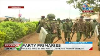 Jubilee nominations - Kiambu: Police fire in the air to disperse rowdy voters #ElectionsKE thumbnail