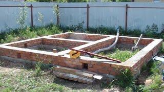 Сборка сруба бани из бруса.  Как сделать фундамент бани из бруса.(Компания Могута строит дома и бани из профилированного бруса в Нижнем Новгороде. Объем работ по строительс..., 2016-10-30T18:33:13.000Z)