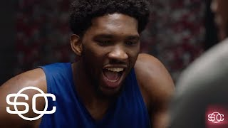 Joel Embiid plays Exploding Kittens card game with Justin Anderson and Ramona Shelburne | ESPN