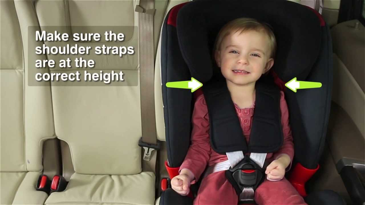 Como Ajustar el Arns de las Sillas de Auto