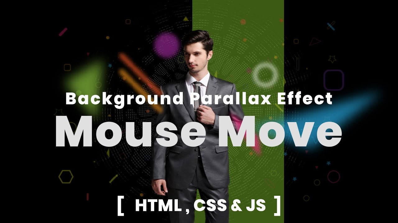 Background Parallax Effect on Mouse Move Using HTML CSS & JS   Effect Html CSS & JS