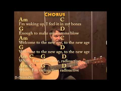 Radioactive Imagine Dragons Guitar Cover Lesson With Chords And