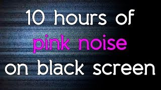 🎧 Pink noise TV noise black screen dark screen  in high quality white noise HQ