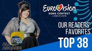 Eurovision 2018 Top 38 | Readers' Favorites so far