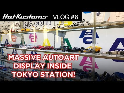 Gigantic AUTOart Display Inside Tokyo Station  | MUST VISIT