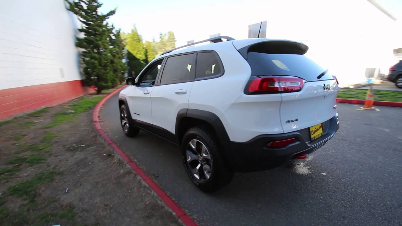2016 jeep cherokee trailhawk white gw132939 redmond seattle youtube. Black Bedroom Furniture Sets. Home Design Ideas