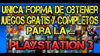 ¿Cual es la unicaforma de tener juegos gratis y completos para la PS3? | Toda la verdad