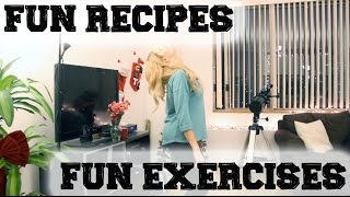 HEALTHY RECIPES AND FUN EXERCISES // Grace Helbig Thumbnail