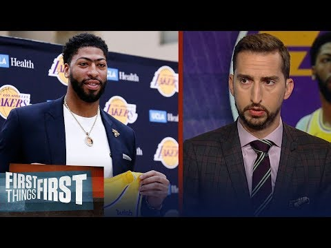 Nick Wright doesn't think it's championship or bust for AD & the Lakers | NBA | FIRST THINGS FIRST
