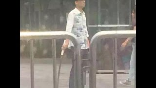 Beijing Uniqlo sword attack: Chilling footage shows man with 'foot-long blade'