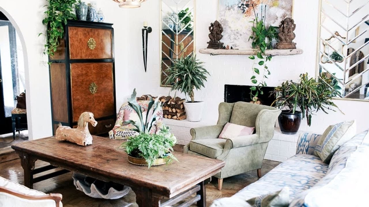 Interior Design Eclectic Vintage Youtube