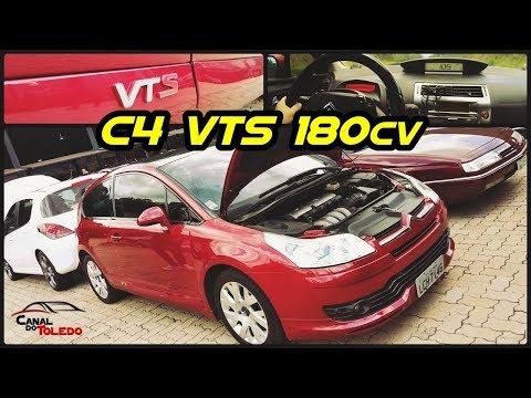 Citroen C4 VTS 180cv - em Detalhes e Acelerando até 8000 RPM