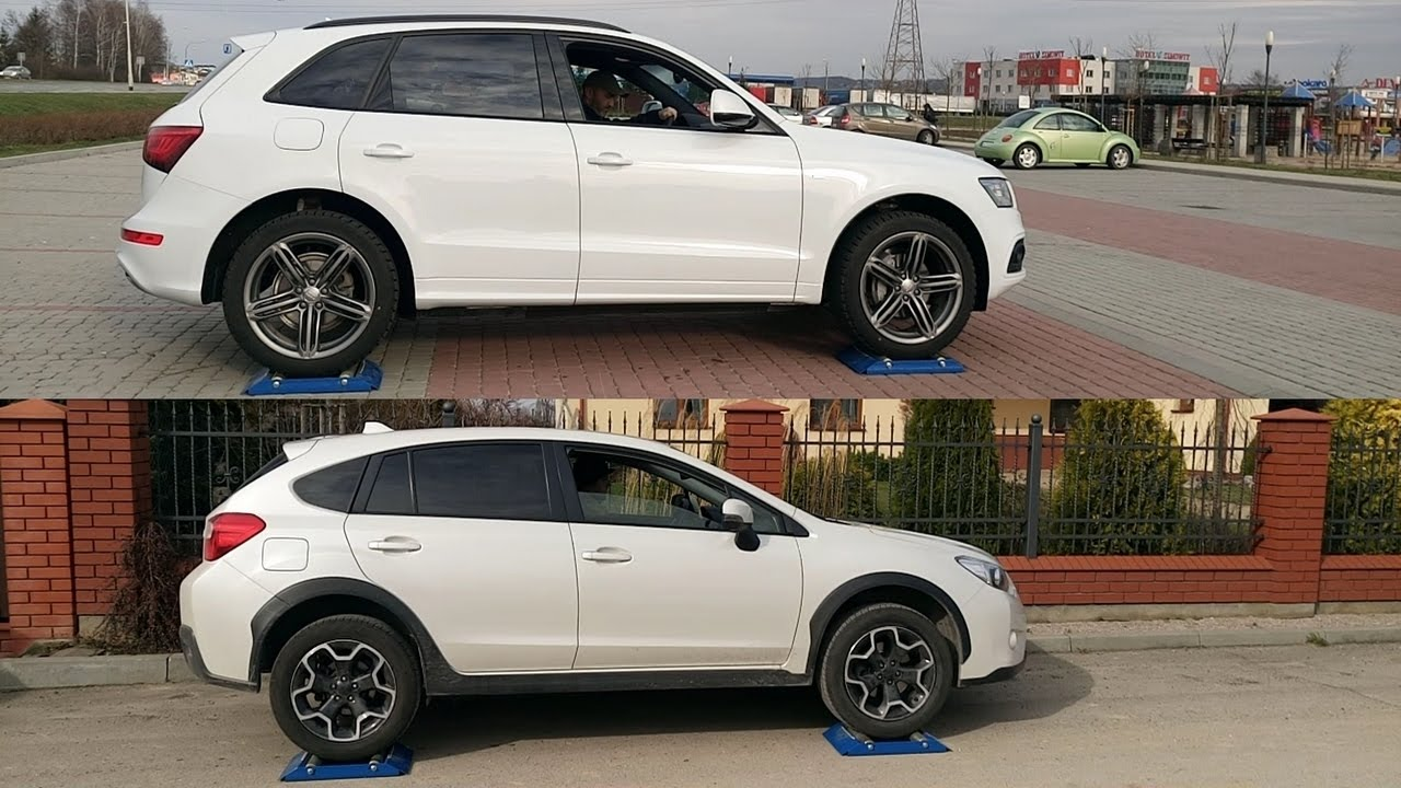 audi q5 quattro vs subaru xv s awd 4x4 diagonal test on. Black Bedroom Furniture Sets. Home Design Ideas