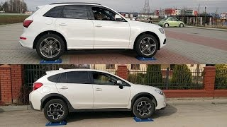 Audi Q5 Quattro vs Subaru XV S-AWD - 4x4 diagonal test on rollers