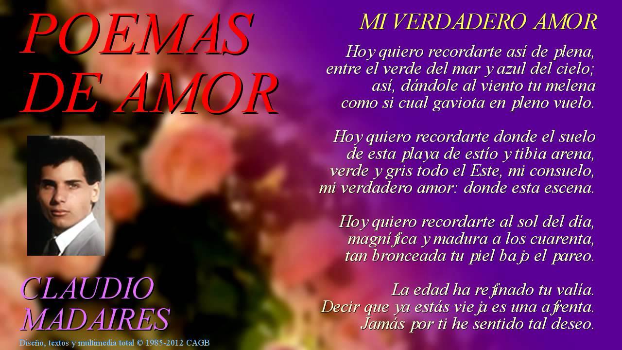Mi Verdadero Amor Sonetos De Amor Recitados Poemas De