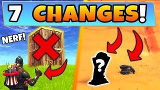 Fortnite Update: 7 NEW SECRET CHANGES! Weapon Nerves - MuselK Easter Egg (Battle Royale Season 5)