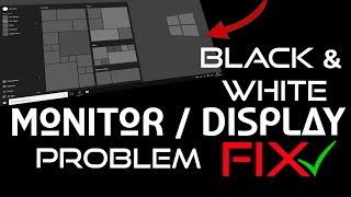 How To Fix Black And White Screen On PC | Black & White Monitor/Display Problem Solution | In HINDI