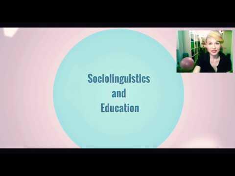 Sociolinguistics and Education