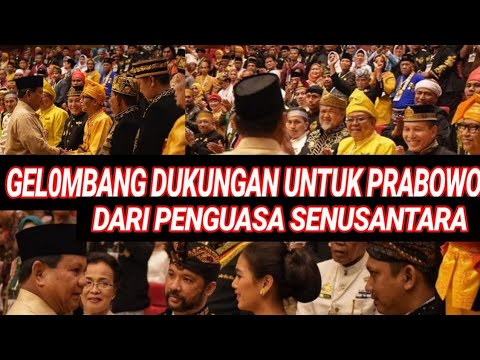 MANTAB;GEL0MBANG DUKUNGAN RAJA2 SENUSANTARA UTK PRABOWO;PILPRES 2019;SANDIAGA;MARUF AMIN;CAWAPRES;