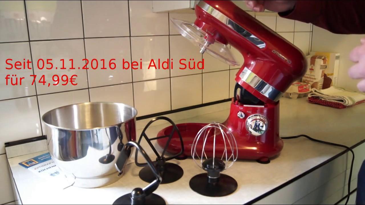 Aldi Ambiano Kuchenmaschine Im Test Youtube