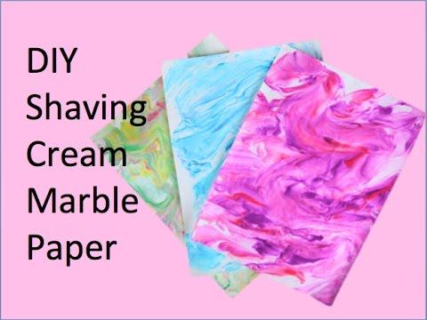 DIY Shaving Cream Marble Paper