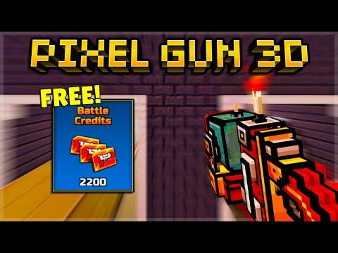 Pixel Gun 3D | F2P The EASIEST 2200 Credits To Get EVER! (Black Market)