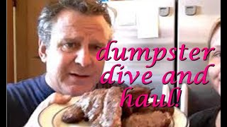 DUMPSTER DIVING ~ ALDI ~  FREE FOOD AND AN UBER USEFUL GERMAN LESSON FROM FRUGAL DADDY #laughnow